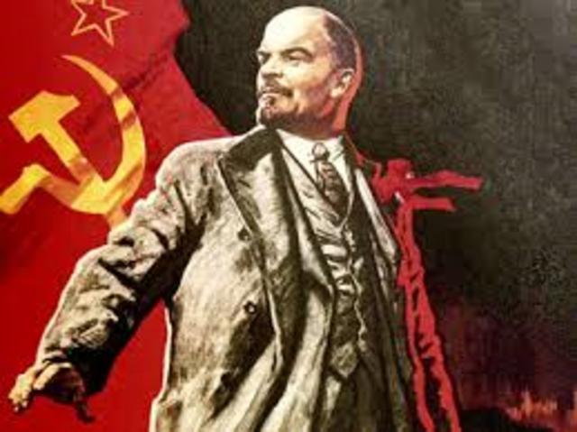 Nieuwe regering gemaakt door de Bolsjewieken