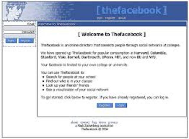Mark Zuckberg crea Facebook