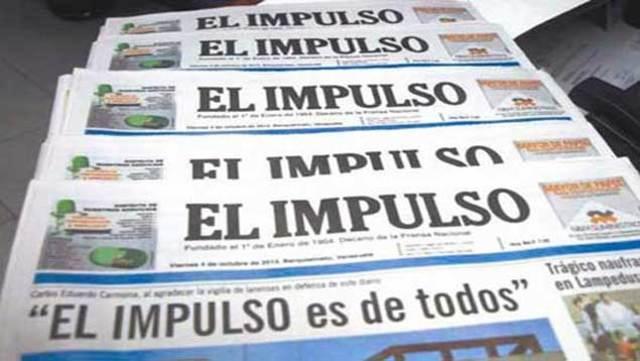 Diario El Impulso de Barquisimeto reduce sus páginas por falta de papel