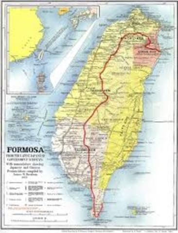 Japan take control Formosa
