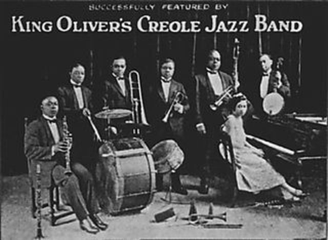 """""""Dipper mouth blues"""": Creole Jazz Band"""