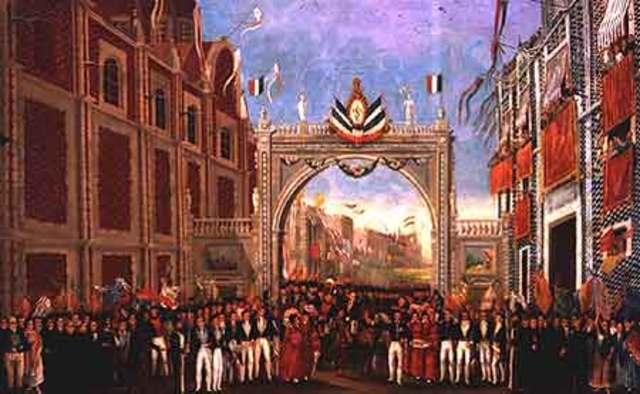 El ejercito trigarante entra a la ciudad de México