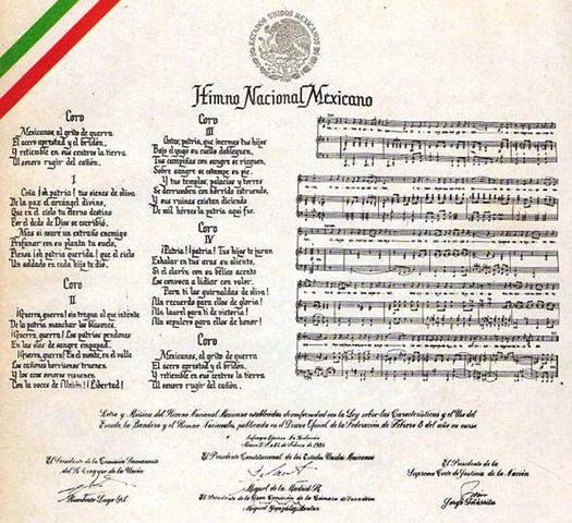 Se compone el Himno Nscional