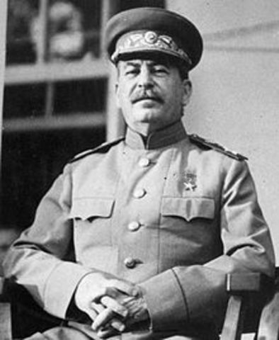 Joseph Stalin becomes the leader of the Soviet Union