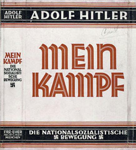 Hitler writes Mein Kampft