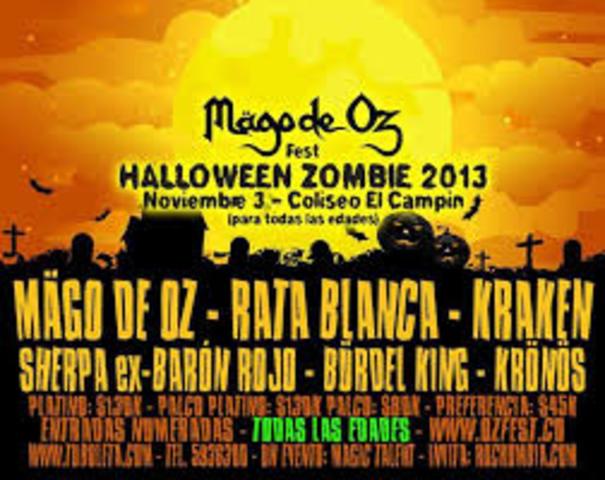 se presentan en el Mago de Oz Fest Colombia