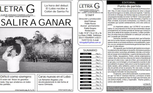 El nacimiento de Letra G