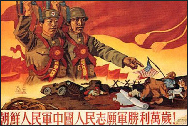 China enterss the Korean War