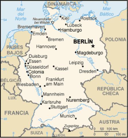 Intercambio telefónico automático entre Berlin y Munich en Alemania