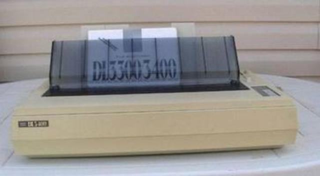 Impresora matriz de puntos