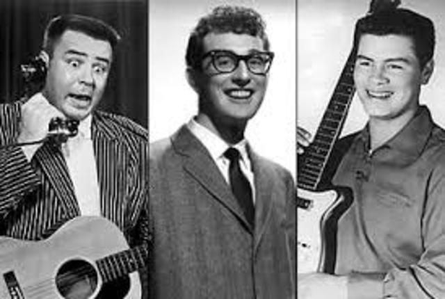 """""""The Day the Music Died"""": a plane crash takes the lives of Buddy Holly, the Big Bopper, and Ritchie Valens"""