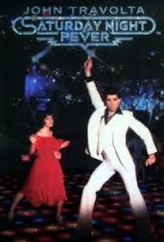 The film Saturday Night Fever helps push the popularity of disco to its height