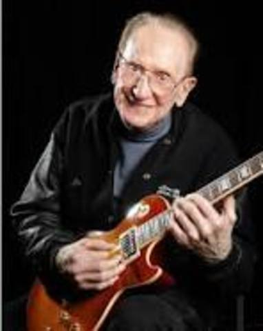 Les Paul uses overdubbing to create his own recordings with up to eight different guitar tracks.