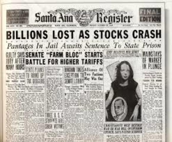 Leading up to the Great Depression