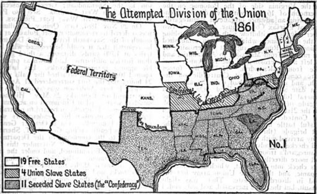 States who seceded on Timeline