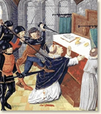 Thomas Becket murdered
