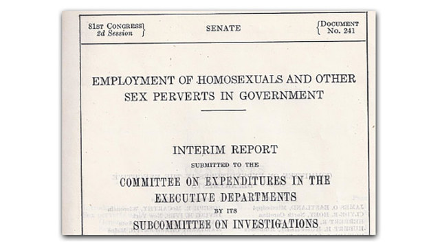 A report by the U.S. Senate calls homeosexuality a disease