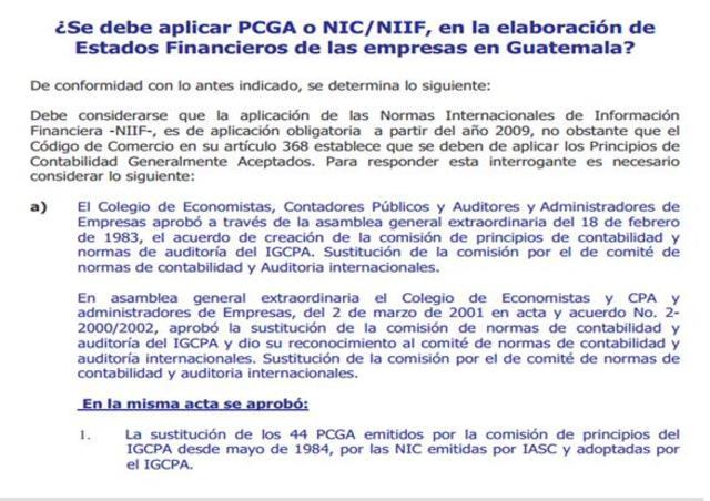 PRINCIPIOS DE CONTABILIDAD GUATEMALA