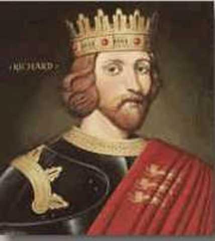 Richard, Henry II's son born.