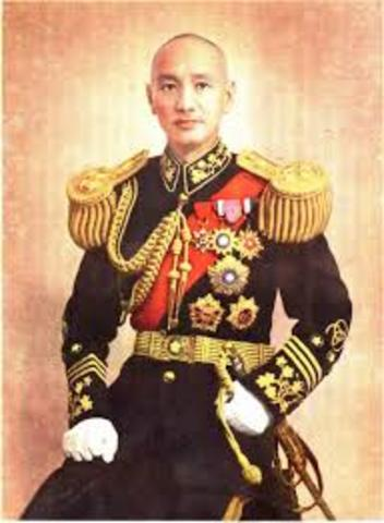 Chiang resigns as president and Flees