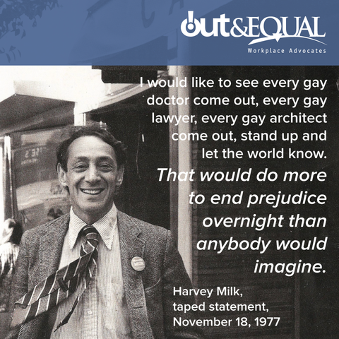 Harvey Milk is the first out gay man to run for any political office