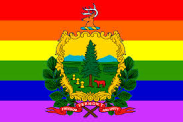 Vermont recognizes gay marriage and promotes civil unions