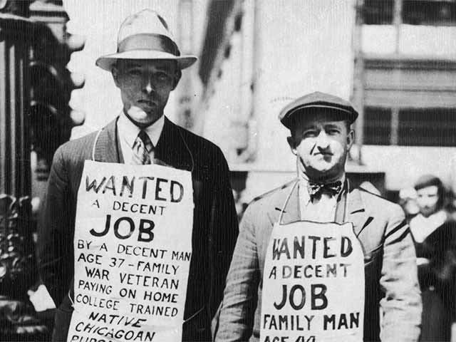 Great Depression begins and need for job placement skyrockets