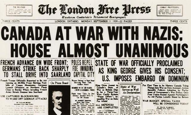 Canada Declared War On Germany