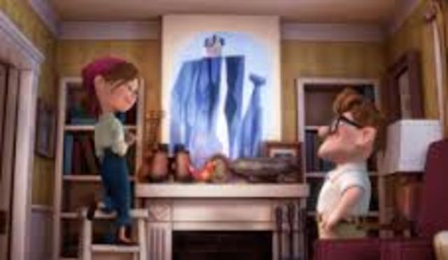 Carl promises Ellie they will have a house on Paradise Falls