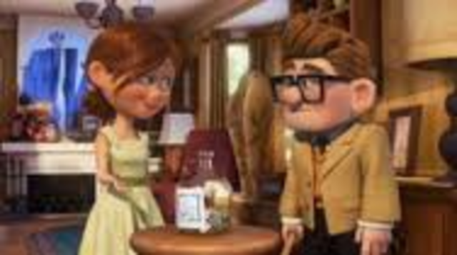 Carl and Ellie save money to fulfil their dream