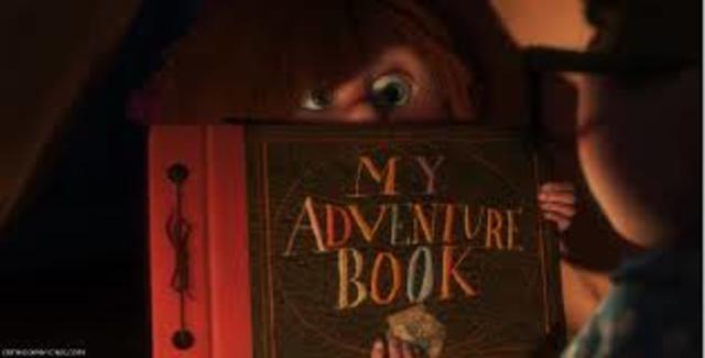 Ellie shows Carl her adventure book