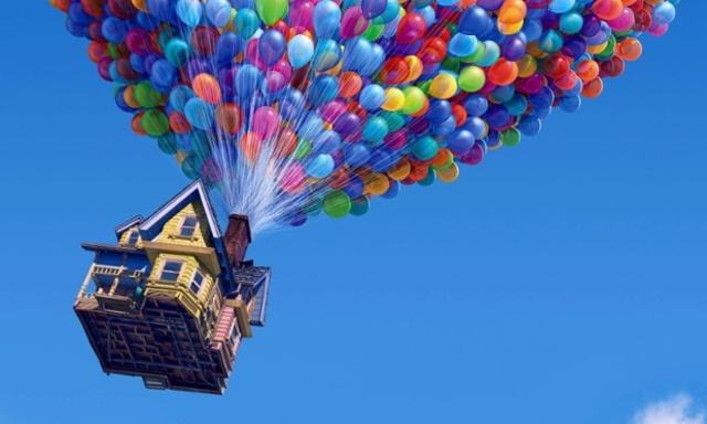 House with balloons