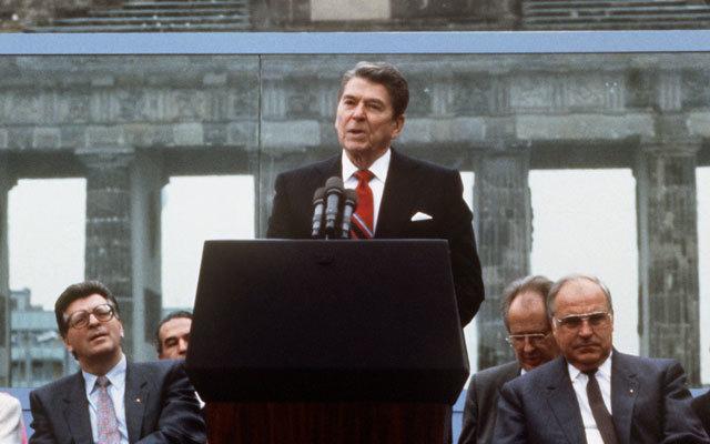 """Mr Gorbachev tear down this wall"""