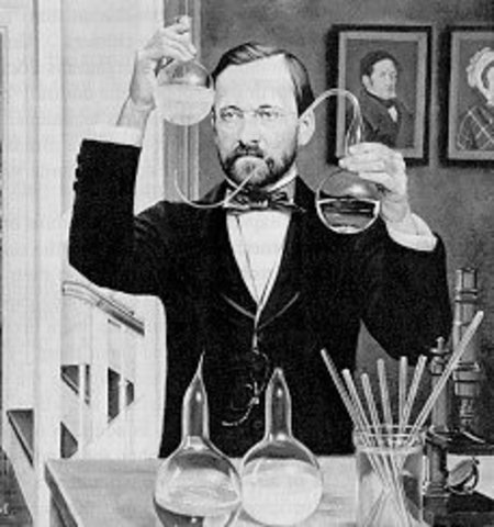 Louis Pasteur refuta de manera convincente la teoría de la generación espontánea.
