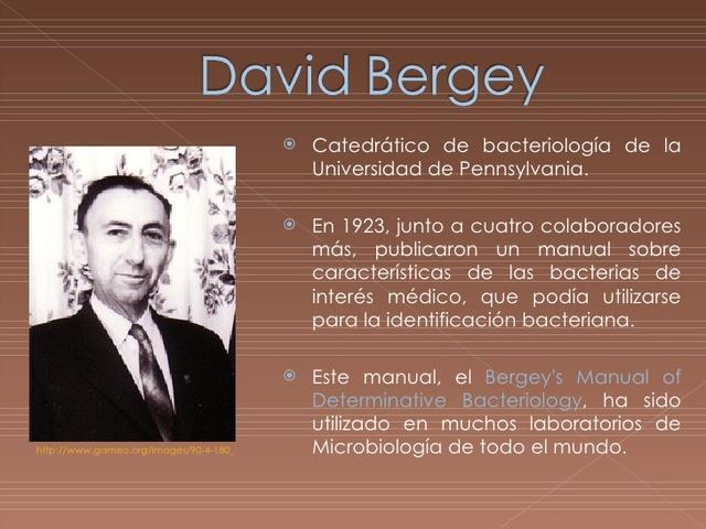 se publica por primera vez el Manual Bergey de Microbiología.