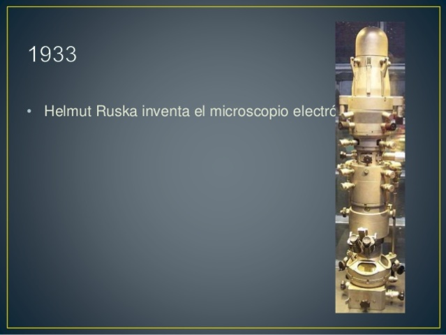 Helmut Ruska inventa el microscopio electrónico.