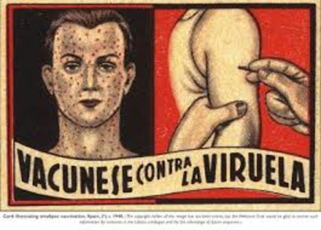 1ª vacuna contra la viruela humana.  1ª vacuna contra la viruela humana.