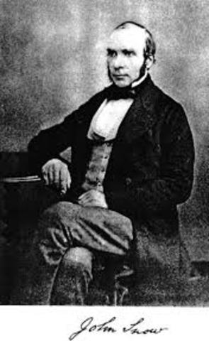 Realiza el 1º estudio epidemiológico del cólera. John Snow