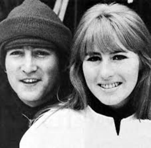 John Lennon y Cynthia Powell
