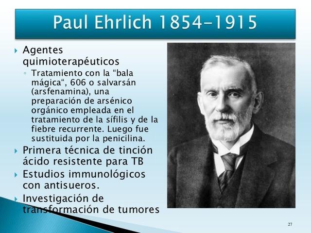 descubrimiento del primer agente quimioterapeutico contra la sifilis