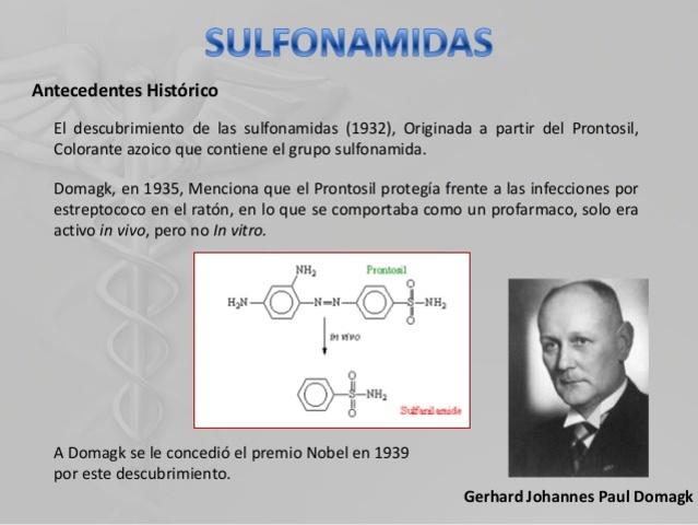 descubrimiento de las sulfamidas