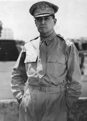General MacArthur lands
