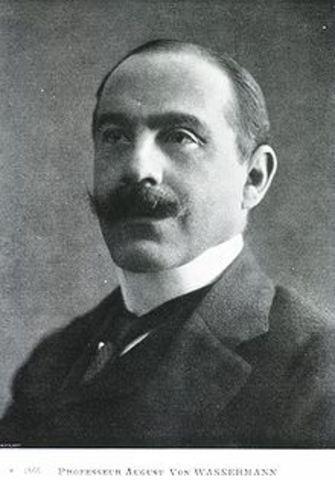 von wassermann  desarrollo la prueba de fijacion de complemento
