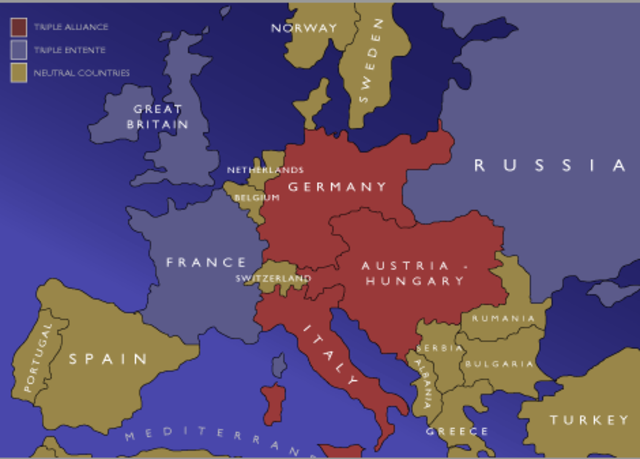 Triple Entente (Britain, Russia and France