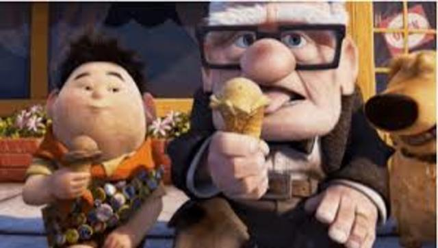 Carl and Russell get ice-cream