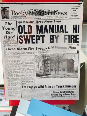 Old Manual High School Burns Down
