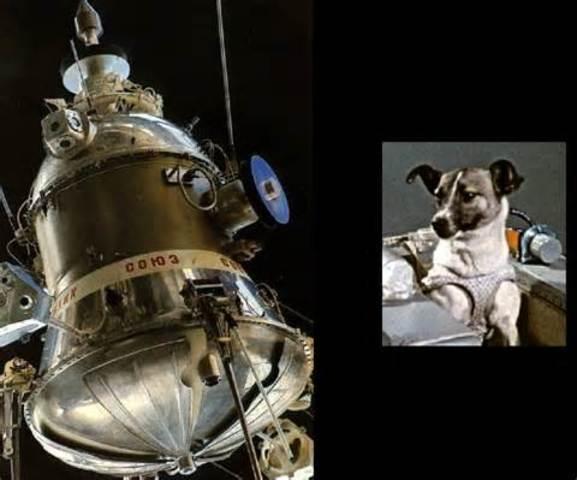 Sputnik 2 is launched (U.S.S.R)