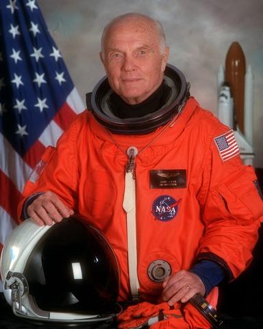 John Glenn orbits Earth (USA)