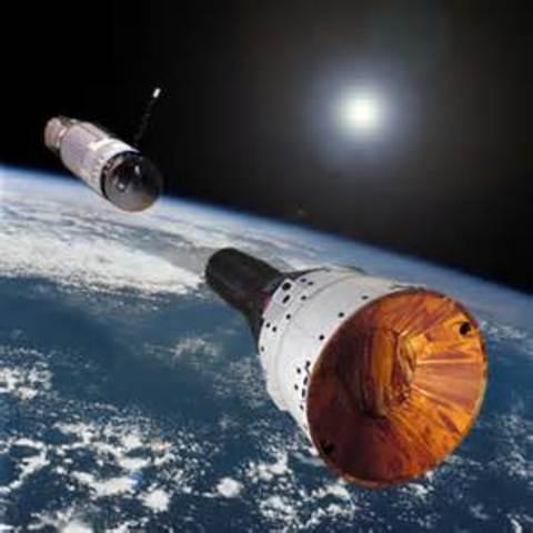 First Docking of 2 spacecraft (USA)