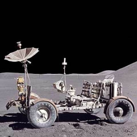 First rover on moon (USA)
